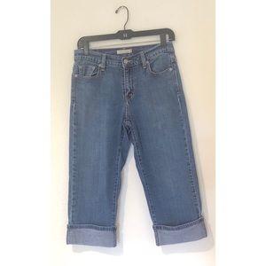 Levi's Capri 515 High Rise Mom Jeans Cuffed Jeans